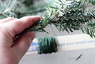 How to make a branch & twig wreath. Make A Natural Christmas Wreath For Less Than $5 - Step 4