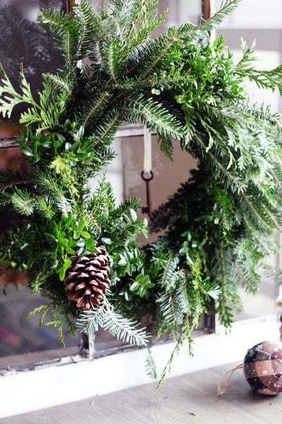 How to make a branch & twig wreath. Make A Natural Christmas Wreath For Less Than $5 - Step 8