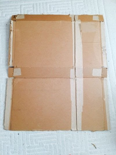 How to make a piece of recycled art. Geometric Puzzle Canvas Art  - Step 1