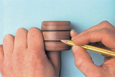 How to make a napkin / napkin ring. Woodburned Napkin Rings - Step 1