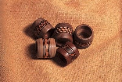 How to make a napkin / napkin ring. Woodburned Napkin Rings - Step 6