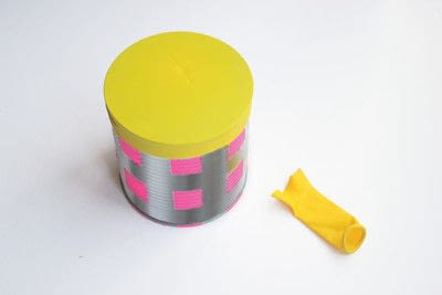 How to make a drum. Recycled Drum Kit - Step 4