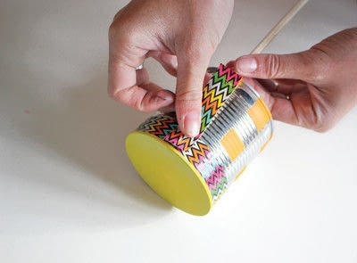 How to make a drum. Recycled Drum Kit - Step 6