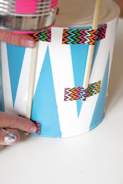 How to make a drum. Recycled Drum Kit - Step 7