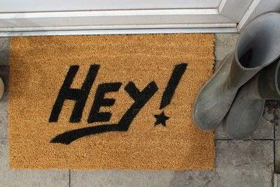 How to make a door mat. DIY Painting A Doormat - Step 5