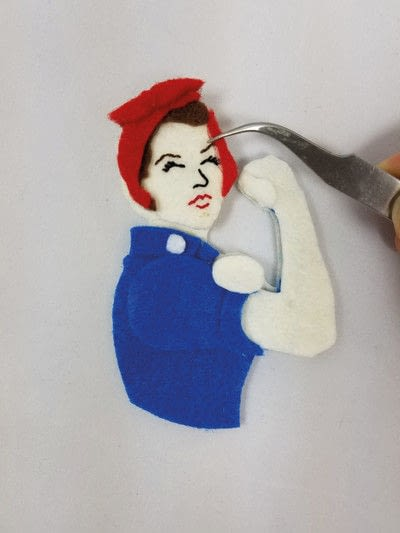 How to make a pouch, purse or wallet. Rosie The Riveter Coin Purse - Step 9