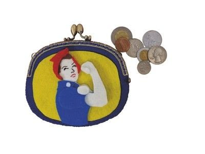 How to make a pouch, purse or wallet. Rosie The Riveter Coin Purse - Step 10