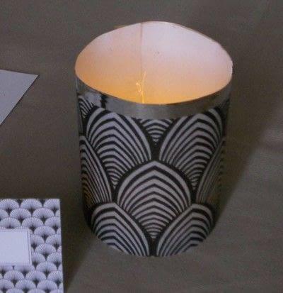 How to make a decorative light. Art Deco Themed Tea Lights - Step 2