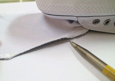 How to make a pair of fabric covered shoes. Harris Tweed Converse - Step 3