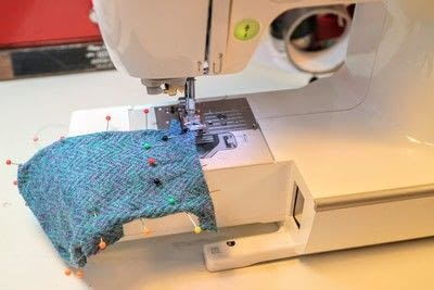 How to make a pair of fabric covered shoes. Harris Tweed Converse - Step 12