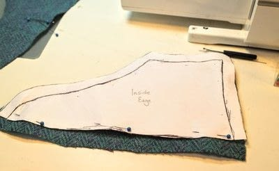 How to make a pair of fabric covered shoes. Harris Tweed Converse - Step 17