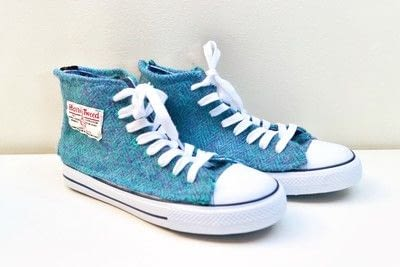 How to make a pair of fabric covered shoes. Harris Tweed Converse - Step 31