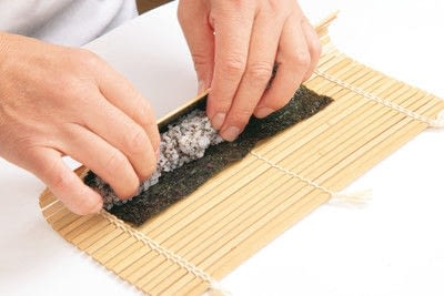 How to make a sushi roll. Panda Sushi Rolls - Step 4