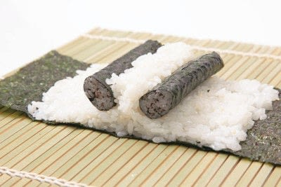 How to make a sushi roll. Panda Sushi Rolls - Step 12