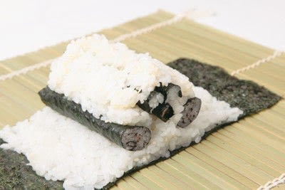 How to make a sushi roll. Panda Sushi Rolls - Step 16