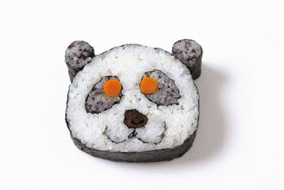 How to make a sushi roll. Panda Sushi Rolls - Step 18