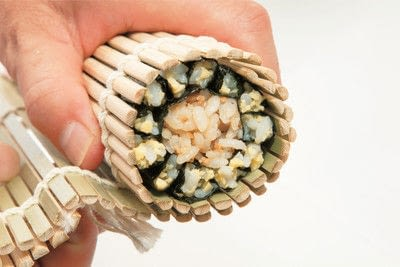 How to make a sushi roll. Sushi Sunflower Rolls - Step 11