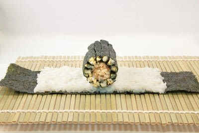 How to make a sushi roll. Sushi Sunflower Rolls - Step 16