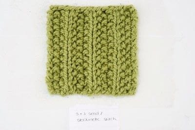 How to make a pom pom beanie. Seed Rib Stitch Pom Pom Hat - Step 1