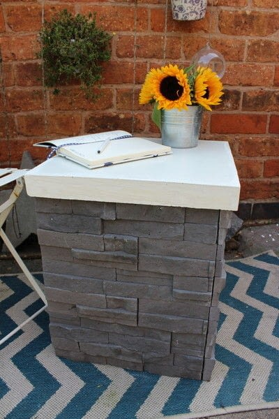 How to make an outdoor accessory. DIY Garden Table Made From Leftover Tiles - Step 9