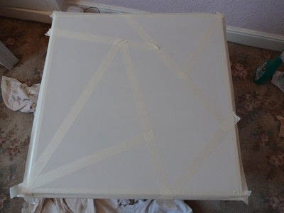 How to make a home / garden project. Geometric Table Top - Step 3