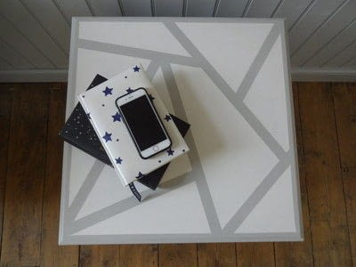 How to make a home / garden project. Geometric Table Top - Step 5
