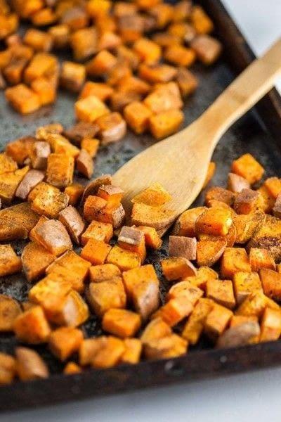 How to make a salad. Healthy Sweet Potato Breakfast Bowls - Step 1