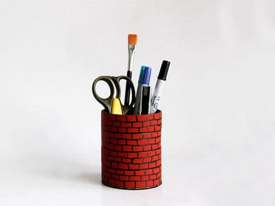 How to make a pot. Roll Tape Brick Well  - Step 6