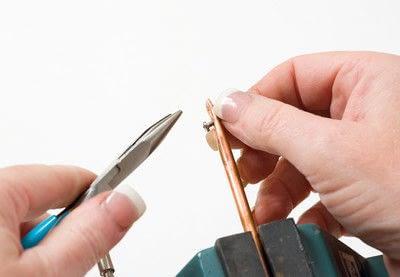 How to make a bangle. Copper Bangle - Step 3