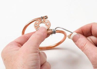 How to make a bangle. Copper Bangle - Step 11