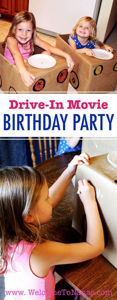 How to make a piece of assemblage art. Drive In Movie Theater Birthday Party - Step 7