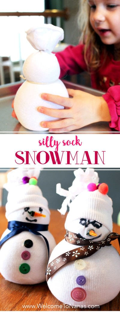 How to make a character plushie. Silly Sock Snowman - Step 7