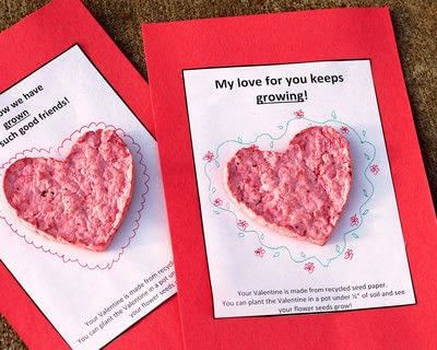 How to make a card. Plantable Seed Paper Valentines - Step 6