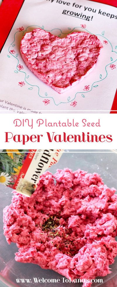 How to make a card. Plantable Seed Paper Valentines - Step 8