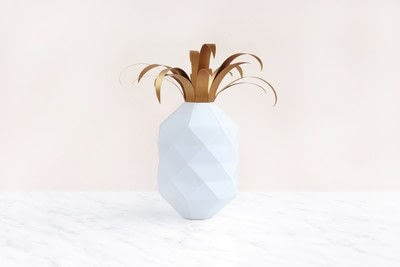 How to make a paper model. Paper Pineapple - Step 8