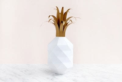 How to make a paper model. Paper Pineapple - Step 11