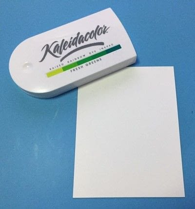 How to paint or draw a painted or drawn card. Textured Card With Inks - Step 1