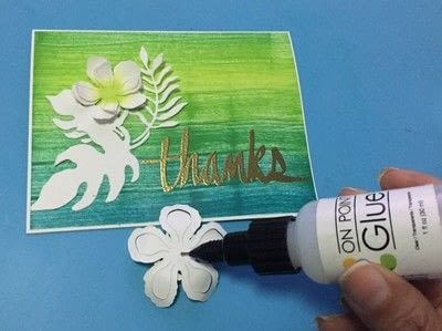 How to paint or draw a painted or drawn card. Textured Card With Inks - Step 5