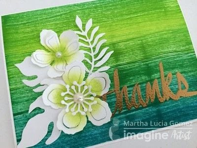 How to paint or draw a painted or drawn card. Textured Card With Inks - Step 6