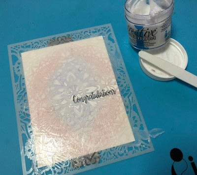 How to paint a watercolor card. Watercolor With Fireworks - Step 2