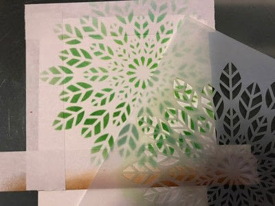 How to paint a stencilled card. Stenciled Card - Step 1