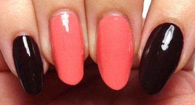How to paint seasonal nail art. Lavishly Leafed - Step 1