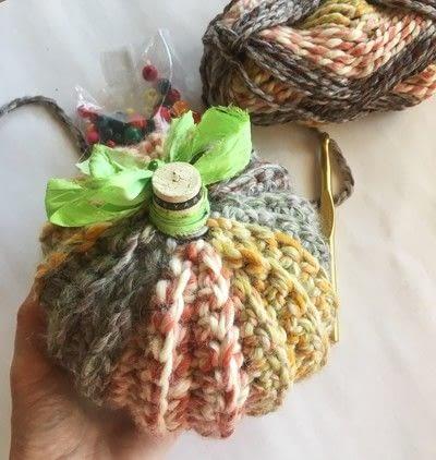 How to make a pumpkin plushie. Crocheted Pumpkins - Step 7