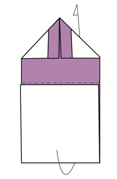 How to fold an origami card. Kimono Cards - Step 5