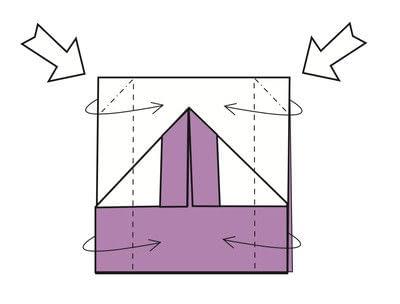 How to fold an origami card. Kimono Cards - Step 6
