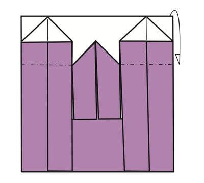 How to fold an origami card. Kimono Cards - Step 7