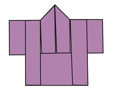 How to fold an origami card. Kimono Cards - Step 9