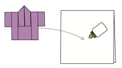 How to fold an origami card. Kimono Cards - Step 10