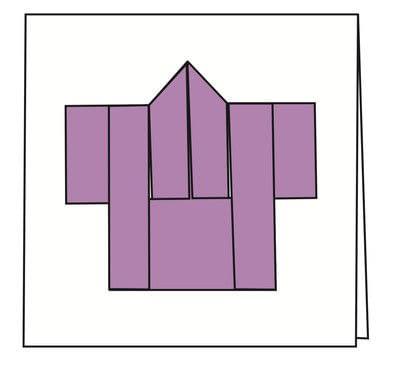 How to fold an origami card. Kimono Cards - Step 11