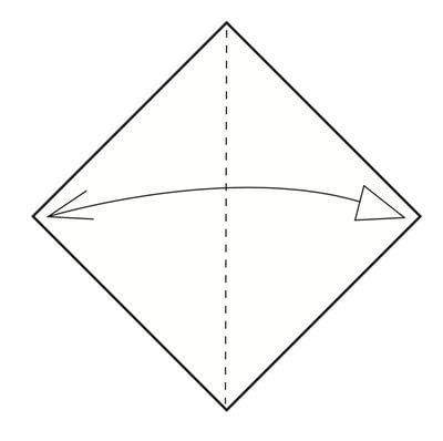 How to make a tray. Origami Triangular Trays - Step 1